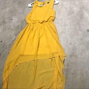 Chiffon yellow dress